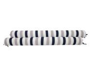 Protetor para Berço Rolinho Lines - Marinho e Cinza | WestwingNow