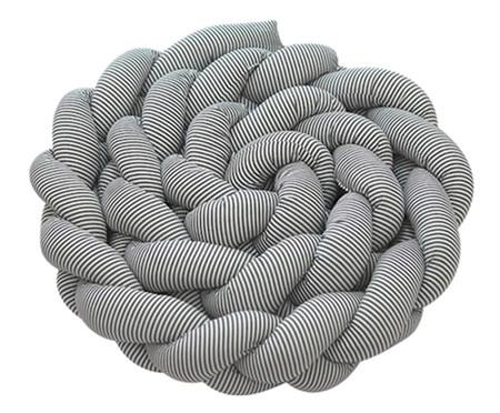 Almofada Protetora para Berço Trança Evolutivo Soho - Cinza | WestwingNow