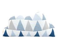 Almofada em Tricô Nuvem Thomas - Azul e branco   WestwingNow