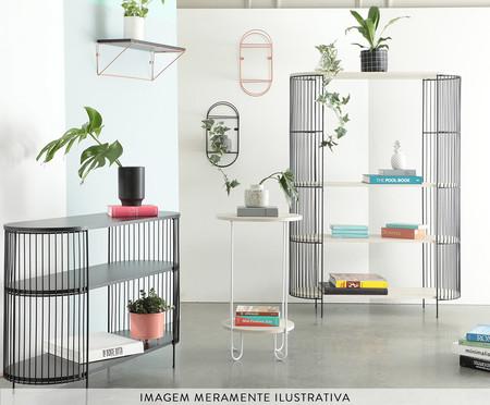 Mini Rack Retangular Deco - Preto e Legno Crema | WestwingNow
