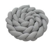 Almofada Protetora para Berço Trança Soho - Cinza | WestwingNow