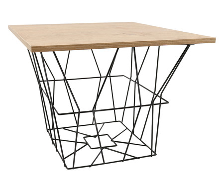 Mesa Lateral Basket Quadrada - Preta | WestwingNow