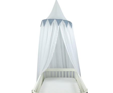 Dossel Cabaninha de Voil com Bandeirola Blois - Branco e Azul | WestwingNow