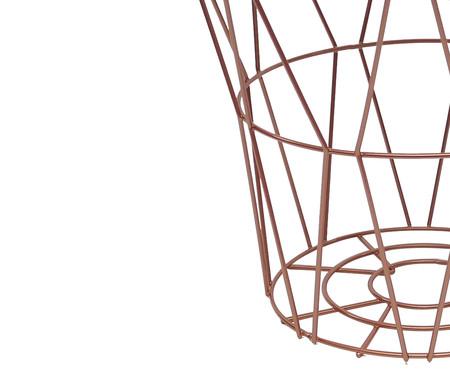 Mesa Lateral Basket Redonda - Acobreada | WestwingNow