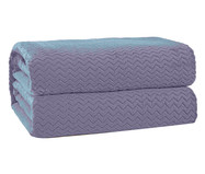 Cobertor Plush Tweed - Azul Céu   WestwingNow
