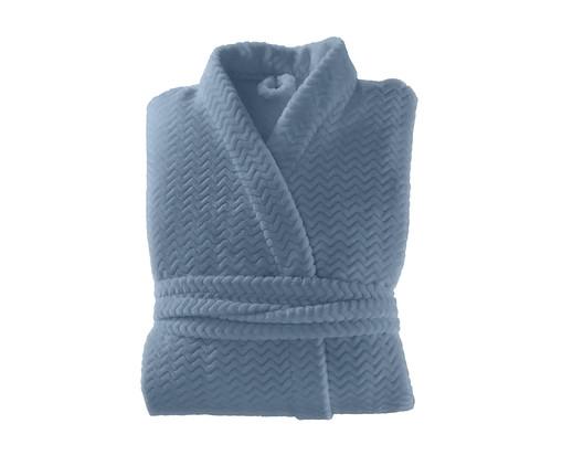 Roupão Plush Tweed - Azul Céu, Azul Céu | WestwingNow