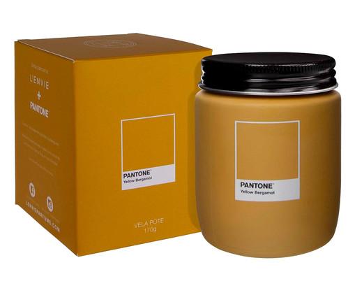 Vela Perfumada de Pote Yellow Bergamot Pantone - 170g, Amarelo   WestwingNow