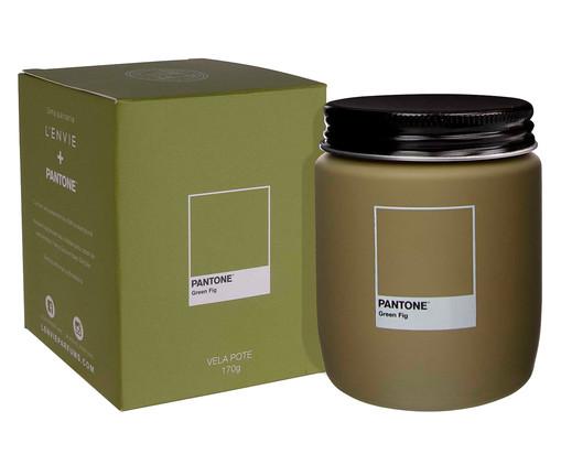 Vela Perfumada de Pote Green Fig Pantone - 170g, Verde   WestwingNow