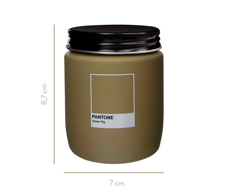 Vela Perfumada de Pote Green Fig Pantone - 170g | WestwingNow