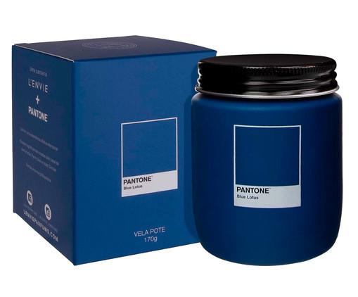 Vela Perfumada de Pote Blue Lotus Pantone - 170g, Azul | WestwingNow