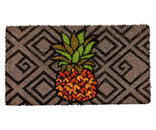 Tapete Capacho em Fibra de Coco Blamm Licca, Marrom, Laranja e Verde | WestwingNow