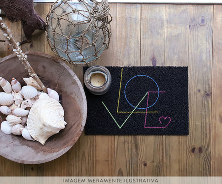 Capacho Vinil Super Print Love | WestwingNow