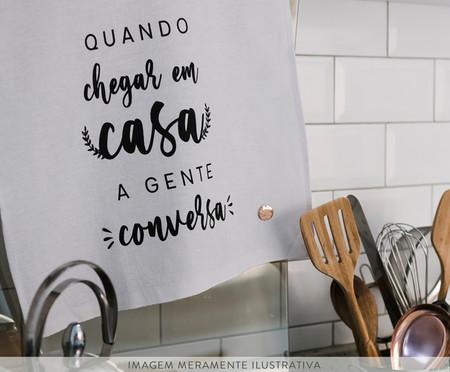 Pano de Prato Em Casa a Gente Conversa - Branco | WestwingNow