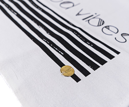 Pano de Prato Good Vibes - Branco | WestwingNow