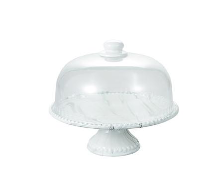 Prato para Bolo em Porcelana com Cúpula Alexey - Branco | WestwingNow