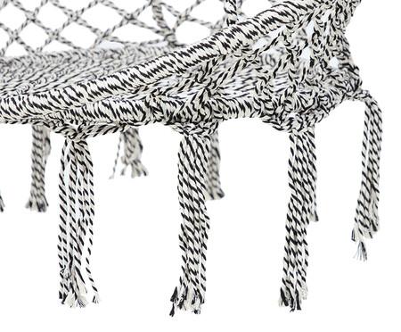 Poltrona Macramê Suspensa - Preto e Branco | WestwingNow