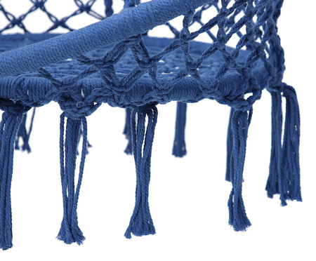 Poltrona Macramê Suspensa - Azul Royal | WestwingNow