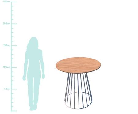 Mesa de Jantar Da Vinci Redonda - Natural e Branca   WestwingNow