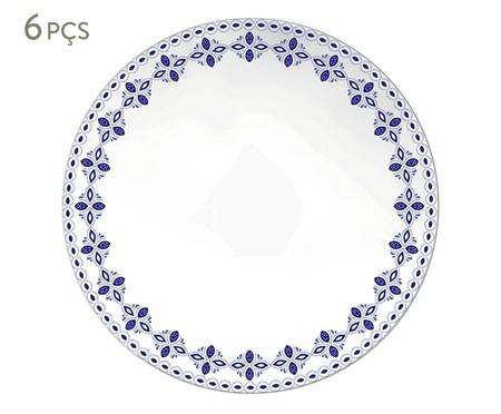 Jogo de Pratos Rasos em Porcelana Evori - Estampado | WestwingNow