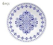 Jogo de Pratos Fundos em Porcelana Evori - Azul | WestwingNow
