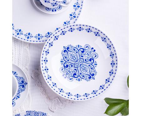 Jogo de Pratos Fundos em Porcelana Evori - Estampado | WestwingNow