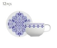 Jogo de Xícaras para Chá em Porcelana Evori - Azul   WestwingNow