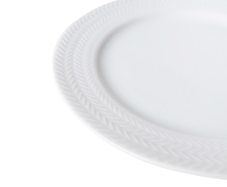 Jogo de Pratos para Sobremesa em Porcelana Lucerne - Branco | WestwingNow