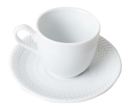 Jogo de Xícaras para Café em Porcelana Lucerne - Branco   WestwingNow