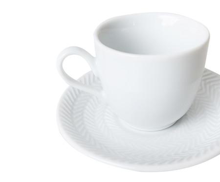 Jogo de Xícaras para Café em Porcelana Lucerne - Branco | WestwingNow