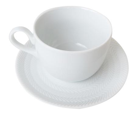 Jogo de Xícaras para Chá em Porcelana Lucerne - Branco   WestwingNow