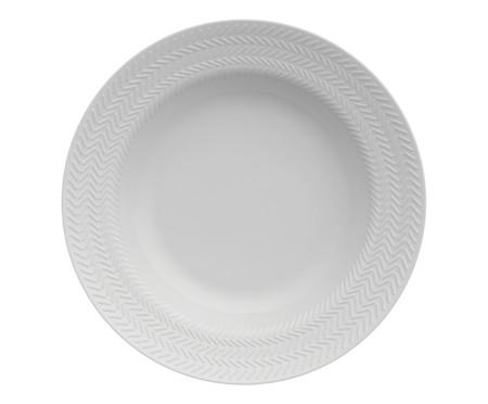 Jogo de Jantar em Porcelana Lucerne Branco - 04 Pessoas   WestwingNow