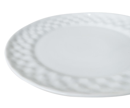 Jogo de Pratos Rasos em Porcelana Zamora - Branco | WestwingNow