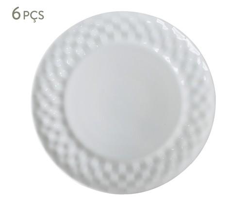 Jogo de Pratos Rasos em Porcelana Zamora - Branco, Branco | WestwingNow