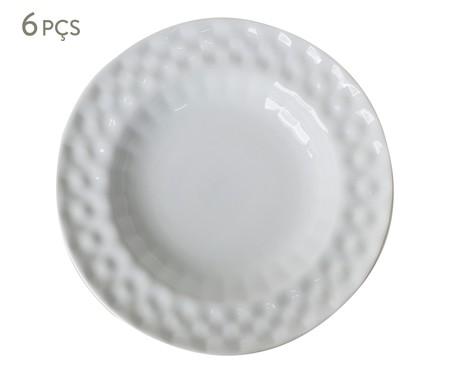 Jogo de Pratos Fundos em Porcelana Zamora - Branco | WestwingNow