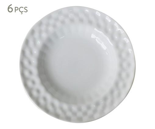 Jogo de Pratos Fundos em Porcelana Zamora - Branco, Branco   WestwingNow