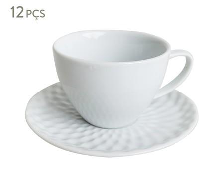 Jogo de Xícaras para Chá em Porcelana Zamora - Branco | WestwingNow
