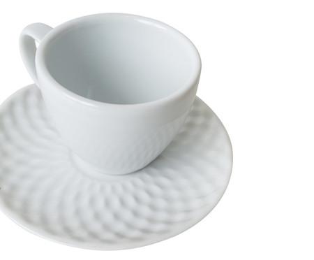 Jogo de Xícaras para Café em Porcelana Zamora - Branco | WestwingNow