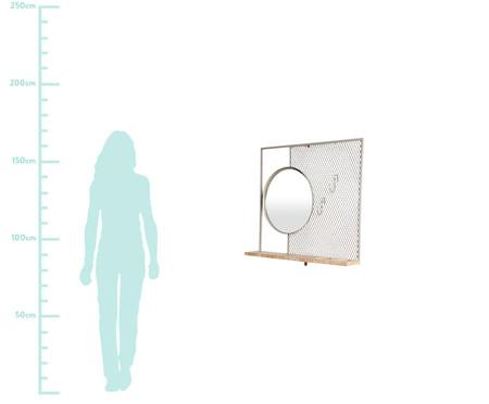 Prateleira com Espelho - Taupe | WestwingNow