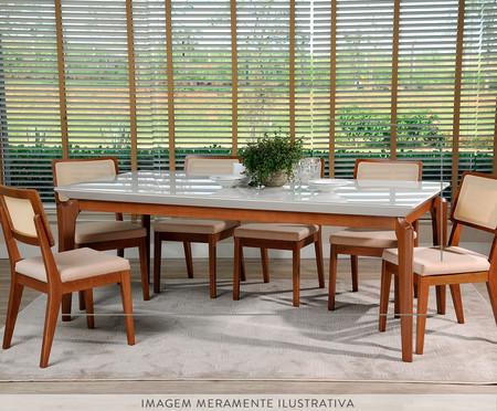 Mesa de Jantar Retangular de Madeira Nouveau - Branca | WestwingNow