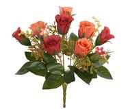 Buquê de Flores em Seda Rosa Silvestre - Laranja | WestwingNow
