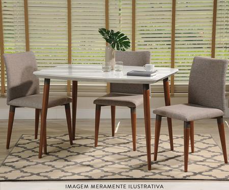 Mesa de Jantar Retangular Eva - Branca | WestwingNow