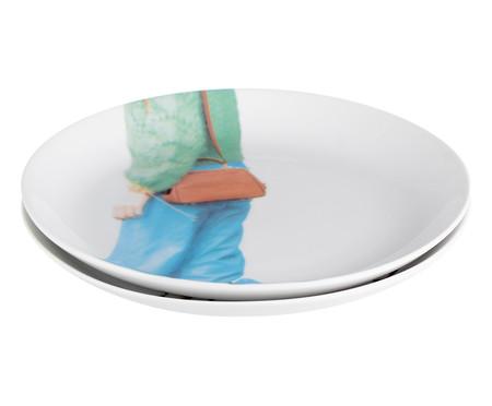 Prato para Sobremesa em Porcelana Elza - 19cm   WestwingNow