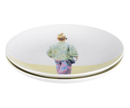 Prato Raso em Porcelana Verena - Colorido | WestwingNow