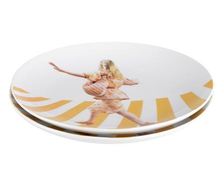 Prato Raso em Porcelana Stefanie - Colorido | WestwingNow