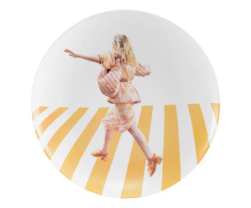 Prato Raso em Porcelana Stefanie - Colorido, Amarelo | WestwingNow