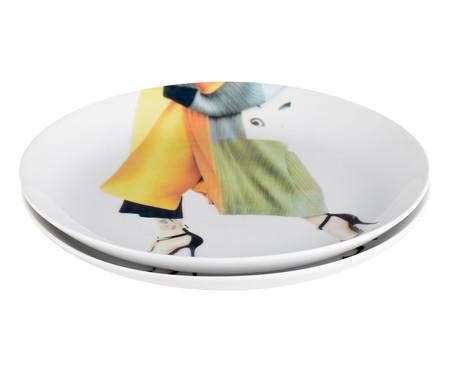 Prato para Sobremesa em Porcelana Brigitte - 19cm   WestwingNow
