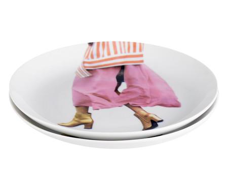 Prato para Sobremesa em Porcelana Diana - 19cm   WestwingNow