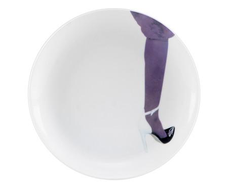 Prato para Sobremesa em Porcelana Sarah - 19cm   WestwingNow