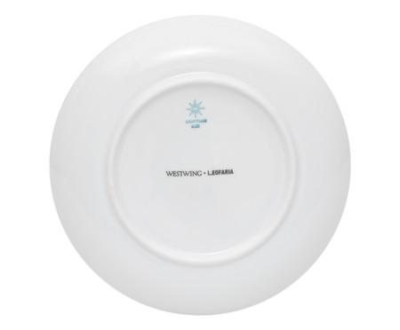 Prato para Sobremesa em Porcelana Sarah - Azul   WestwingNow