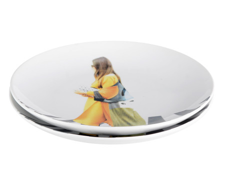 Prato Raso em Porcelana Brigitte - Colorido | WestwingNow